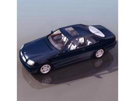 Mercedes-Benz 600 luxury sedan 3d model preview