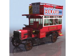 Early omnibus 3d model preview