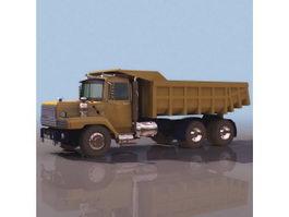 DAF dump truck 3d model preview