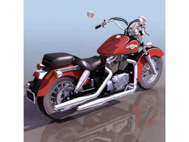 Honda Shadow cruiser motorcycle 3d preview
