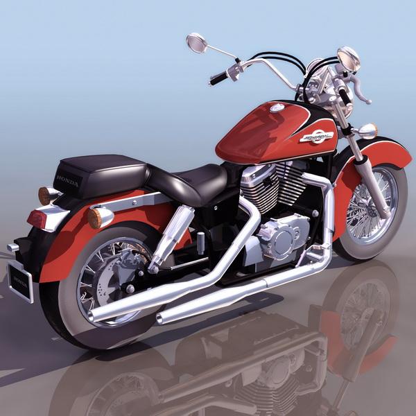 Honda Shadow cruiser motorcycle 3d rendering