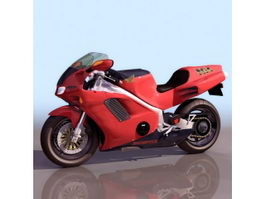 Honda NR racing motorcycle 3d preview