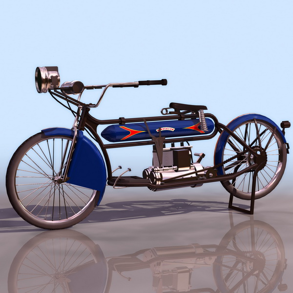 Indian 1911 motorcycle 3d rendering