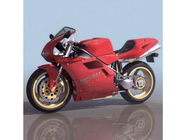 Ducati sport motorcycle 3d model preview