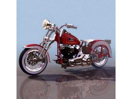 Harley-Davidson sportster motorcycle 3d model preview