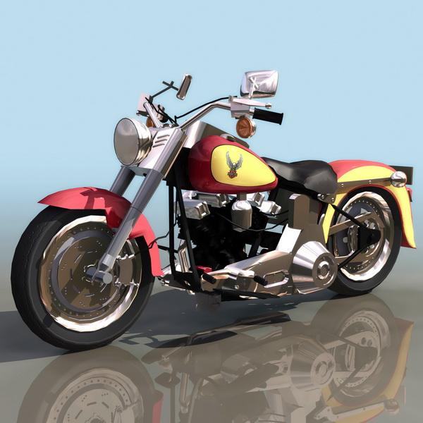 Harley-Davidson FXDF Fat Bob motorcycle 3d rendering