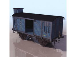 Railway boxcar 3d preview