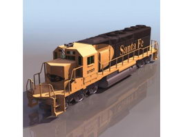 EMD SD40 diesel-electric locomotive 3d preview
