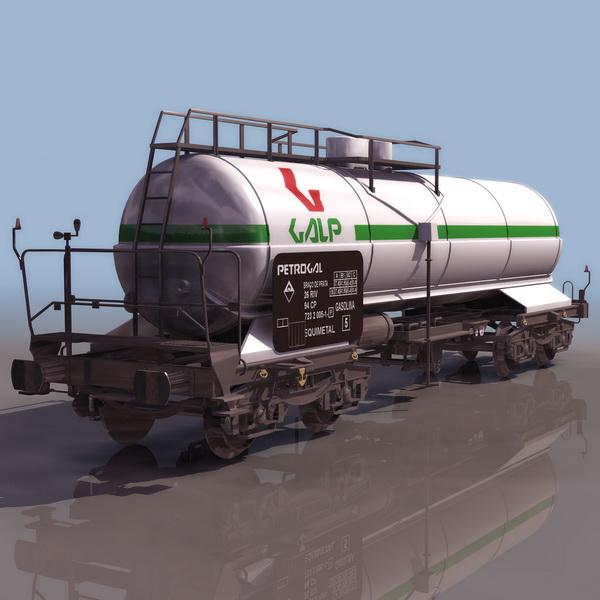 Rail tank car 3d rendering