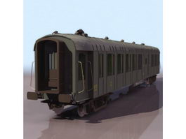 Railway goods wagon 3d preview