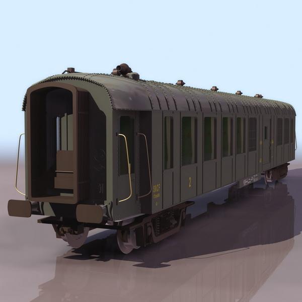 Railway goods wagon 3d rendering