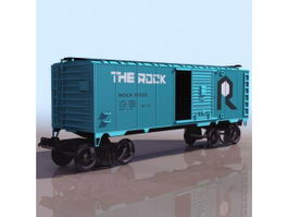 Railway wagon boxcar 3d preview