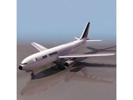 Airbus jet airliner 3D Model