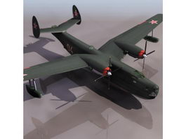 Beriev Be-6 Madge patrol aircraft 3d model preview
