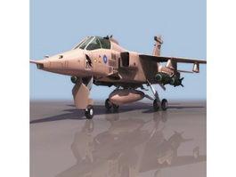SEPECAT Jaguar strike aircraft 3d model preview