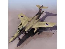 RAF Blackburn Buccaneer attack aircraft 3d model preview