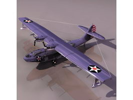 PBY Catalina flying boat 3d model preview