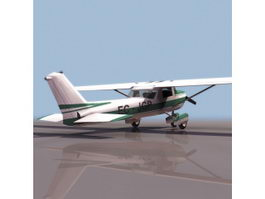Cessna 172 skyhawk aircraft 3d model preview