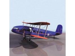 Curtiss T-32 Condor aircraft 3d model preview
