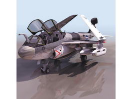 EA-6B Prowler electronic warfare aircraft 3d preview