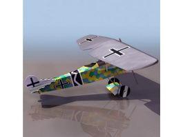 Fokker V7 German fighter 3d model preview