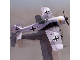 Fw 190 German fighter aircraft 3D Model