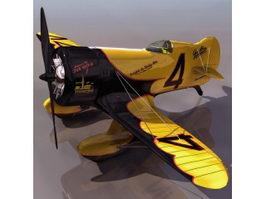 GeeBee Model Z American racing aircraft 3d model preview