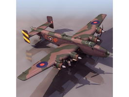 Halifax heavy bomber 3d model preview
