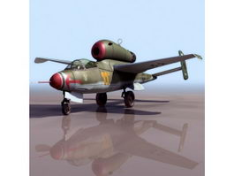 Heinkel He162 German fighter aircraft 3D Model