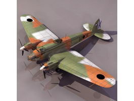 He111 German aircraft 3d model preview