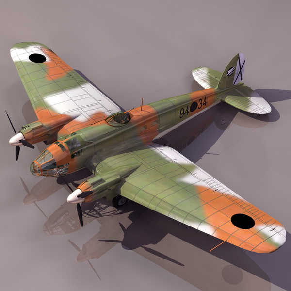 He111 German aircraft 3d rendering