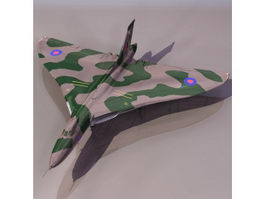 Avro Vulcan strategic bomber aircraft 3D Model