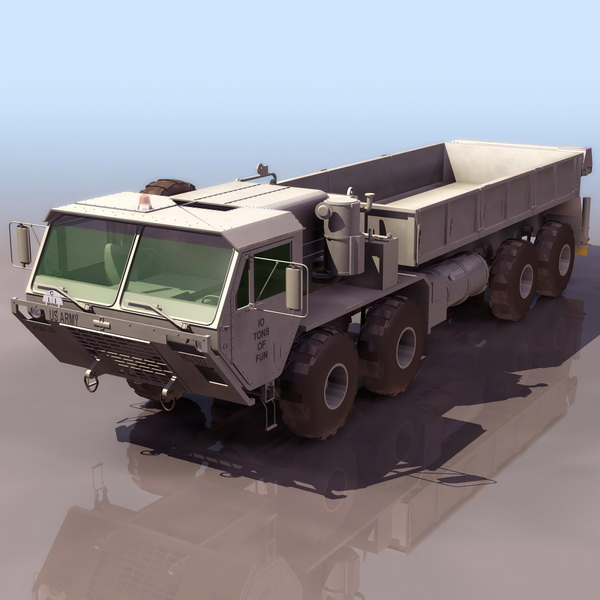 U.S. Army HEMTT truck 3d rendering