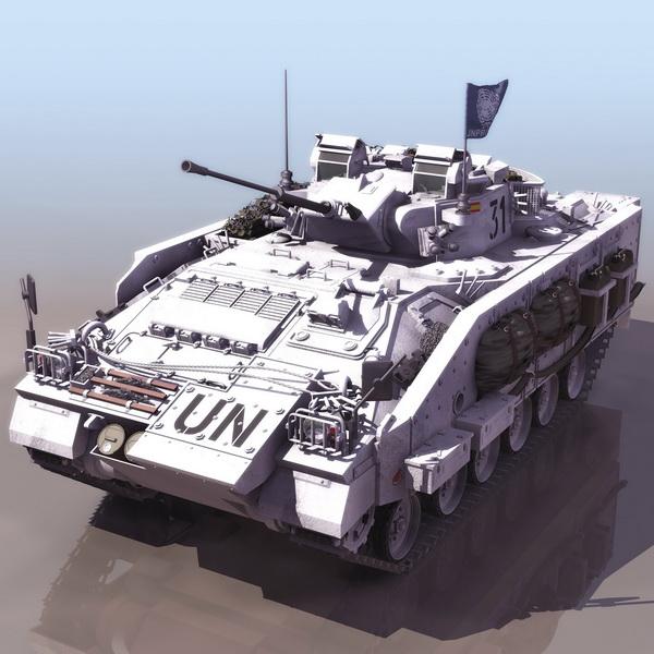 Warrior Maneuver Combat Vehicle 3d rendering