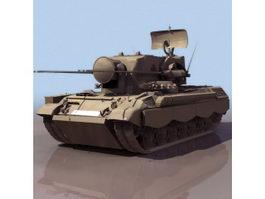 Flakpanzer Gepard German anti-aircraft gun 3d model preview