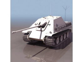 WWII German Jagdpanther tank destroyer 3d preview