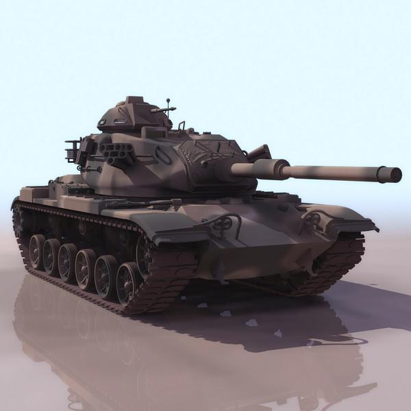 America M60 main battle tank 3d rendering