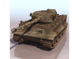 German Tiger heavy tank 3d preview