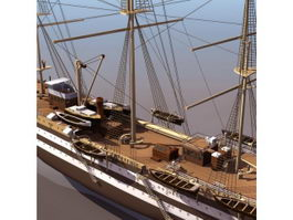 1931 Italy tall ship sailing vessel 3d preview