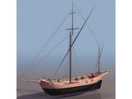Corsair Marine sailboat 3d preview