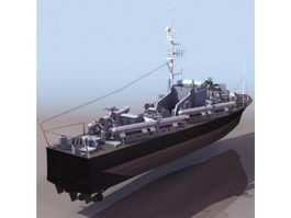 British Vosper 73 motor torpedo boat 3d model preview