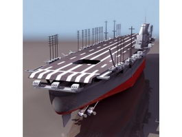 Japanese aircraft carrier Shinano 3d preview