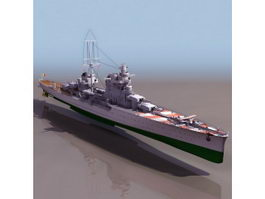 WWII Italian cruiser Pola 3d preview