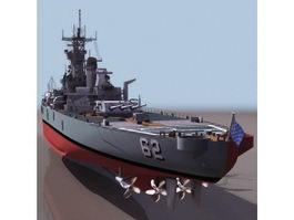 USS New Jersey battleship 3d preview