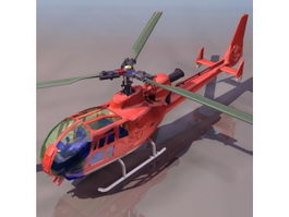 Aérospatiale Gazelle armed helicopter 3d model preview