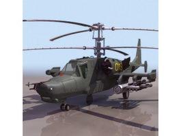 Ka-50 Black Shark attack helicopter 3d model preview