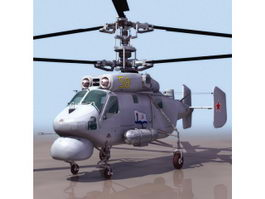 Kamov Ka-25 naval helicopter 3d model preview