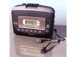 Aiwa Walkman audio cassette player 3d preview