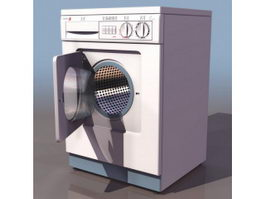 Front loading clothes washer 3d preview