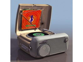 1930s portable wind-up gramophone 3d preview